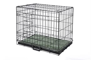 Pet Dog Crate with Bed - Medium