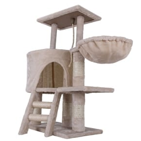 Pet Deluxe Cat Tree - Beige